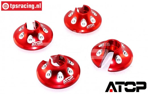 AT-5T018R ATOP Alu-Federteller Rot LOSI-BWS, 2 st.