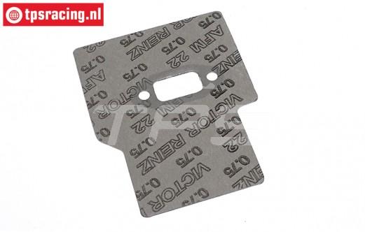 TPS0312/17 HQ Schalldämpferdichtung-Hitzeschutz 4-Bolzen, 1 st