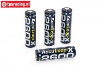 ACCUL2600 Acculoop-X AA 2600 mAh, 1,2 Volt, 4 st.