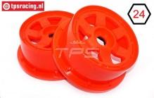 TPS5026/60RE Nylon Felge 6-Speichen Rot Ø120-B60 mm, 2 st.