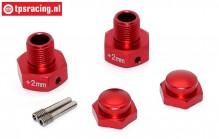 SB010/02-R Alu-Spurverbreiterung rot SBR-SRR, Set