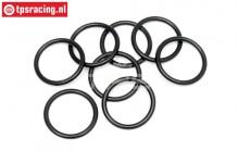HPI75072 O-ring HPI Stoßdämpfereinstellmutter, 8 st.