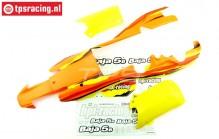 HPI7766 Karosserie Lackiert, Orange-Gelb-Weiß, Set