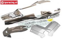 HPI7792 Karosserie Lackiert, Gun-Metal/Grau/Silber, Set