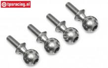 TPS86411 Stahl Gelenkkügel M4-Ø10 mm HPI-Rovan, 4 st