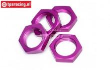 HPI86468 Radmutter Violett 24 mm, 4 st.