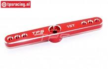 TPS0850/04 Aluminium-Servohebel 15Z-L73 mm Rot, 1 st.