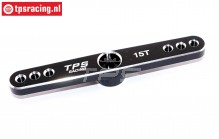 TPS0850/06 Aluminium-Servohebel 15Z-L73 mm Schwarz, 1 st.