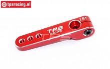 TPS0830/04 Aluminium-Servohebel 15Z-L47 mm Rot, 1 st.
