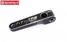 TPS0830/06 Aluminium-Servohebel 15Z-L47 mm Schwarz, 1 st.