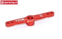 TPS0024 Aluminium-Servohebel 25Z- L55 mm Rot, 1 st.