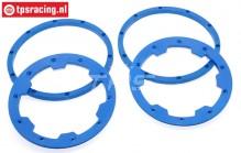 TPS5030/BL HD Nylon Felgenringe Blau, 4 st.