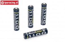 ACCUL1100 Akku Acculoop-X AAA 1100 mAh 1,2 Volt, 4 st.