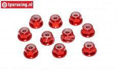 TPS1223/01 Aluminium-Sicherungsmutter M3 Rot, 10 st.