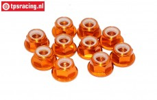 TPS1225/04 Aluminium-Sicherungsmutter M5 Orange, 10 st.