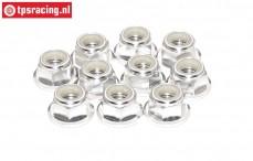 TPS1225/03 Aluminium-Sicherungsmutter M5 Silber, 10 st.