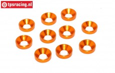 TPS1234/04 Aluminium-Senkring Ø4 mm Orange, 10 st.