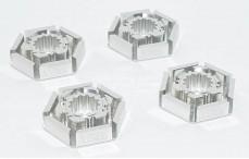 Area RC, Felgenschutz, (Traxxas X-Maxx), (Silber Aluminium), 4 stk.