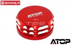 AT-5T017R ATOP Alu-Tankdeckel Rot LOSI-BWS, 1 st.