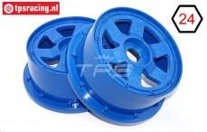 TPS5026/60BL Nylon Felge 6-Speichen Blau Ø120-B60 mm, 2 st.