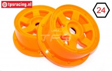 TPS5026/60OR Nylon Felge 6-Speichen Orange Ø120-B60 mm, 2 st.