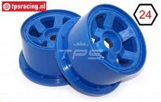 TPS5028/80BL Nylon Felge 6-Speichen B80 mm Blau, 2 st.