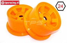 TPS5028/80OR Nylon Felge 6-Speichen B80 mm Orange, 2 st.