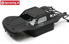 BWS59002/04 Karosserie Elasto-Flex Schwarz BWS-LOSI, Set