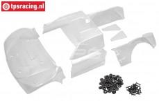 BWS59110 Karosserie Lexan Glassklahr, (BWS-LOSI), Set