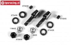FG1171/03 Stabilisatorhalter, M4/M6-Ø4,0 mm, Set