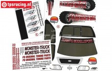 FG20155 Dekorbogen FG Monster-Stadium-Street Truck, set