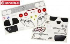 FG2069/01 Dekorbogen Ferrari 360GT, Set
