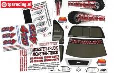FG20155 Dekorbogen FG Monster-Stadium-Street Truck 4WD, set