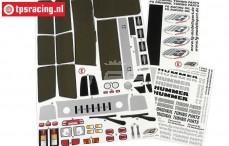 FG30155 Dekorbogen Hummer H2, Set