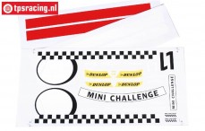 FG5185 Team Dekorbogen MINI Cooper, Set