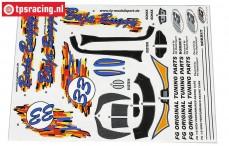 FG60155 Dekorbogen Baja Buggy, Set