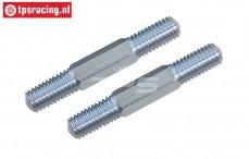 FG6076/01 Stahl Gewindestange M8-L61 mm, 2 St.
