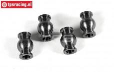 FG6081/01 Stahl Gelenkkugel, (Ø5-Ø10-H15 mm), 2 St.