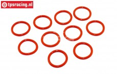 TPS6093/02 Stoßdämpfer Silikon O-Ring Ø13-D2 mm, 10 st