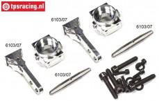 FG6103/05 Alu-Achsschenkel 2WD 1/6 Set