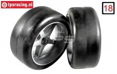 FG Slick-Reifen Soft auf Felgen, (Ø145-B63 mm), 2 Stk.