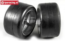 FG Slick-Reifen Soft auf Felgen, (Ø145-B80 mm), 2 Stk.