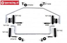 FG6425/01 Stabilisator 2WD 1/6 vorne/hinten, Set