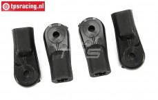 FG6477/04 Kunststoffgelenk Alu-Achsschenkel hinten, 4 st