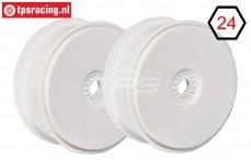 FG67215 1/6 Diskfelge Tire Safe Weiß Ø130-B65 mm, 2 St.