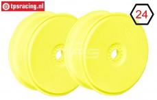 FG67216 1/6 Diskfelge Tire Safe Gelb Ø130-B65 mm, 2 St.