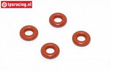 FG67320/16 Stoßdämpfer Silikon O-ring, Ø3-H2,0 mm, 4 st