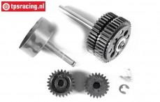 FG7450 2-Gang Getriebe FG 1/5 2WD, Set