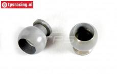FG7475/02 Alu-Gelenkkugel mit Siliciumbeschichtung, 2 st.