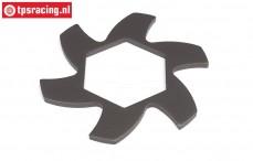 HPI102171 Bremsscheibe Kühler Gun Metal, 1 st.